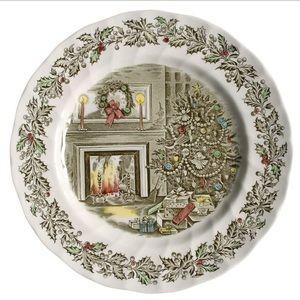 "•Johnson Bros• Set of 6 ""A Merry Christmas"" Plates"